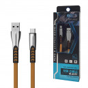 KABEL USB TYP-C 2.4A  ZŁOTY 2400mAh QUICK CHARGER QC 3.0 1M POWERLINE BW02
