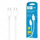 KABEL USB TYP-C DO TYP-C PD 3,6A DENMEN BIAŁY 1M D20C 100W