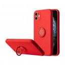 NAKŁADKA FINGER RING IPHONE 13 MINI CZERWONY ETUI CASE BACK COVER