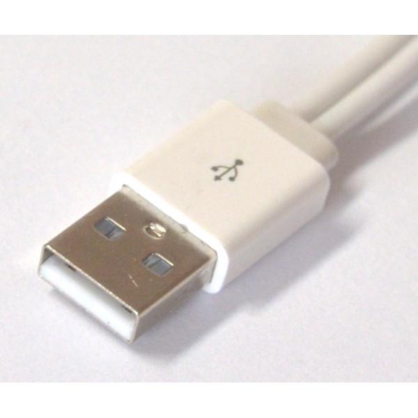 KABEL USB 2W1 BIAŁY IPHONE MICRO USB PODWÓJNY IPAD